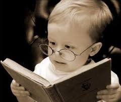 baby reading book image